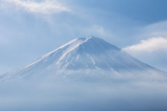 Close up Fuji Mt. with snow covered on top Royalty Free Stock Images
