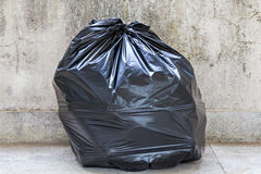 Close-up of a full garbage bag Stock Images