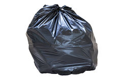 Close-up of a full garbage bag Royalty Free Stock Photos