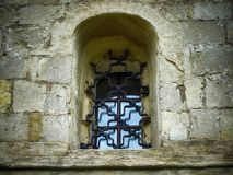 Old door with stone walls royalty free stock photography