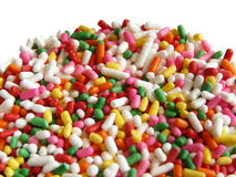 Close up Funfetti. Close up colorful sugar for topping Stock Photo