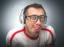 Close up of a funny guy Royalty Free Stock Image