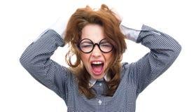 Close-up funny woman Stock Photos