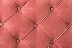Close-up Furniture fittings - backrest upholstered sofa. Abstract texture design royalty free stock photo