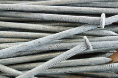 Close-up of Galvanized Nails Stock Photos