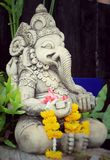 Close up ganesha , made from stucco work Royalty Free Stock Image