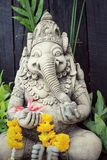 Close up ganesha , made from stucco work Royalty Free Stock Photography
