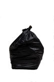 Close up of a garbage bag on white background Stock Photography