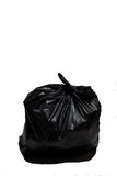 Close up of a garbage bag on white background Royalty Free Stock Image