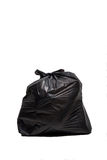 Close up of a garbage bag on white background Royalty Free Stock Photography