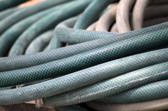 Green Garden Hose Royalty Free Stock Photography