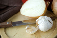 Close up garlic Stock Image