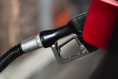 Gas Station, Gas Pump Nozzle stock photos