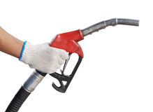 Close up gas pump for refueling car on gas station Stock Photography