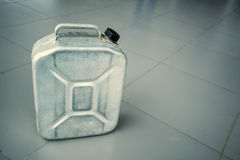 Close-up of gasoline canister royalty free stock image