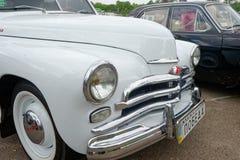 Close up of GAZ M20 Pobeda vintage car - Stock image Stock Images