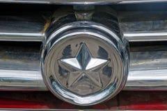 Close up of GAZ M21 Volga vintage car Royalty Free Stock Images