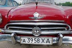 Close up of GAZ M21 Volga vintage car Royalty Free Stock Photos