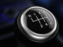 Close up of Gear stick. 3d render Stock Photos