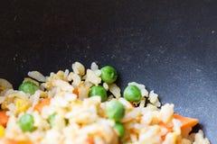 Close-up gebraden rijst Stock Afbeeldingen