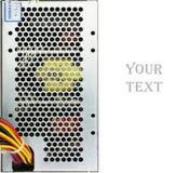 Close-up gebruikte geïsoleerde computervoeding Stock Foto