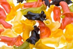 Close-up gekleurde deegwarenachtergrond Royalty-vrije Stock Afbeelding