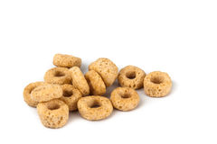 Close up on generic ring shaped cereal Royalty Free Stock Photo