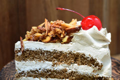 Close-up of genoise coffee cake Royalty Free Stock Image