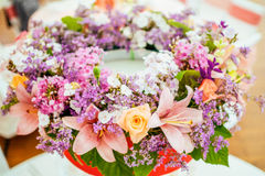 Close-up gentle flower round bouqet Stock Images