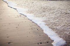 Close-up of Gentle Surf on a Beach Royalty Free Stock Photo