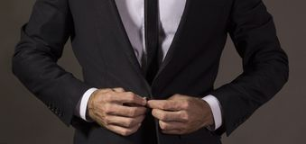 Close up of a gentleman in business attire.Studio shot Royalty Free Stock Photos