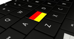 Close up of German button. Royalty Free Stock Image