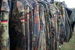 Close up of german uniform. Stock Images