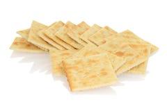 Close-up gezouten crackers Royalty-vrije Stock Foto's