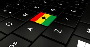 Close up of Ghana button. Stock Photo