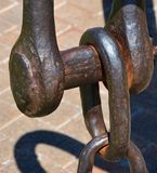 Close-up of Giant Anchor Chain Royalty Free Stock Photography