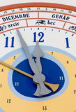 Close-up on Giant Calendar Wall Clock Royalty Free Stock Photo