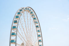 Close up Giant Ferris Wheel in Hong Kong near Victoria Harbor Royalty Free Stock Photography