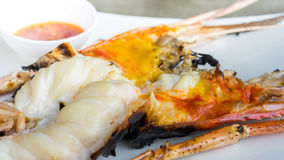 Close-up of giant river prawn grilled Royalty Free Stock Image