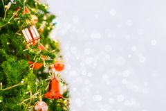 Close up gift box on Christmas tree Stock Images