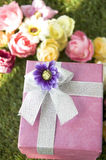 Close up gift box Royalty Free Stock Images