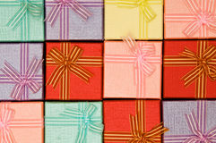 Close up of gift boxes Royalty Free Stock Photography