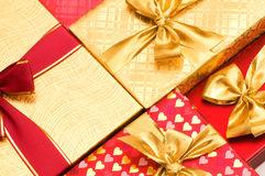 Close up of gift boxes Royalty Free Stock Image