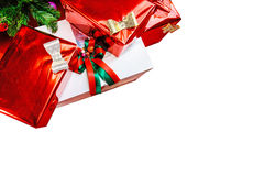 Close up of gift boxes Royalty Free Stock Images