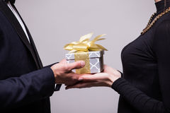 Close up of gift share Royalty Free Stock Photos