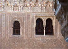 Close up Gilded Room Cuarto dorado at Alhambra Royalty Free Stock Image