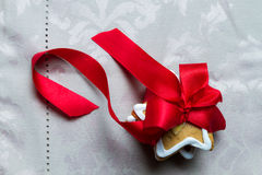 Close-up of gingerbread cookies packed as a gift Royalty Free Stock Photography