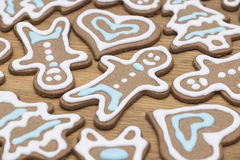Close-up of gingerbread cookies Stock Images