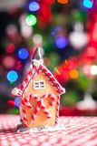 Close-up of gingerbread fairy house Royalty Free Stock Photography