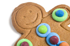 Close up of a gingerbread man Royalty Free Stock Image